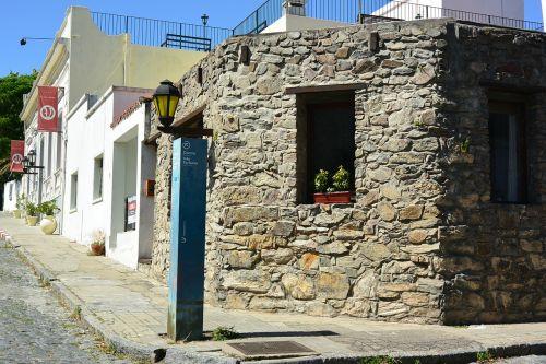 stone house corner houses