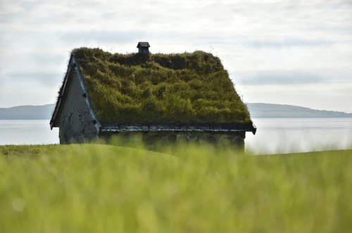 stone house  house  turf roof
