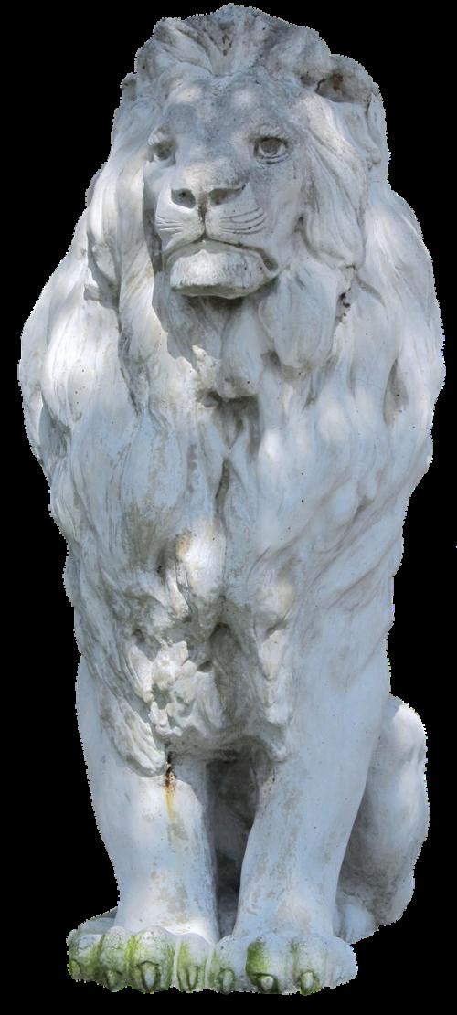 stone lion lion stone figure