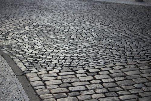 stone paving  road  grey
