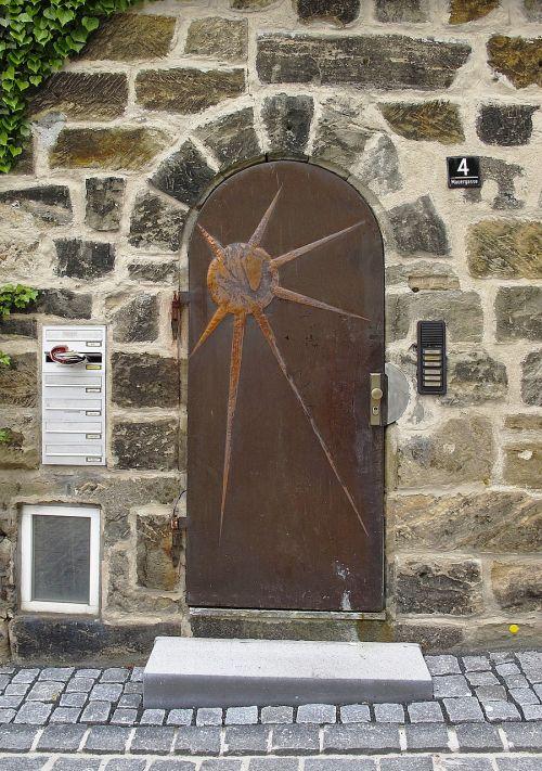 stone portal natural stone motivtür
