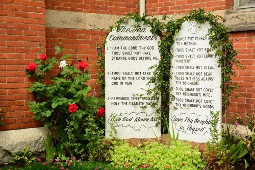 stone tablets ten commandments religion