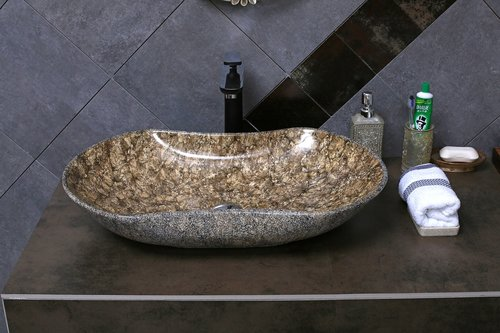 stone textured basin  wash basin  ceramic basin