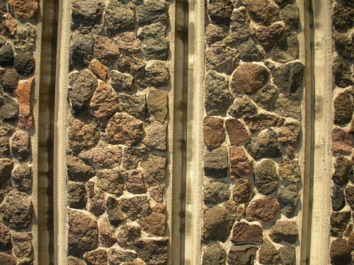 stone wall divided sections