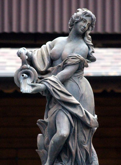 stone woman park sculpture sculpture