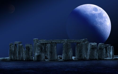 stonehenge moon full moon