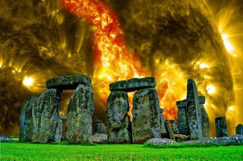 stonehenge fantasy sky