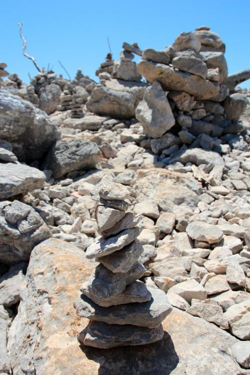 stones cairn stone wall