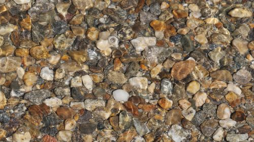 stones covered with water rock