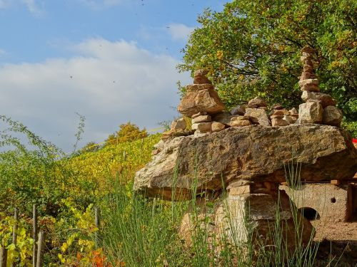 stones cairn stacked