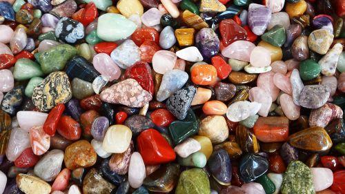 stones colorful deco