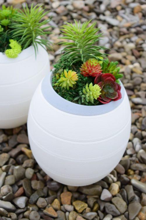 stones plants funeral urns