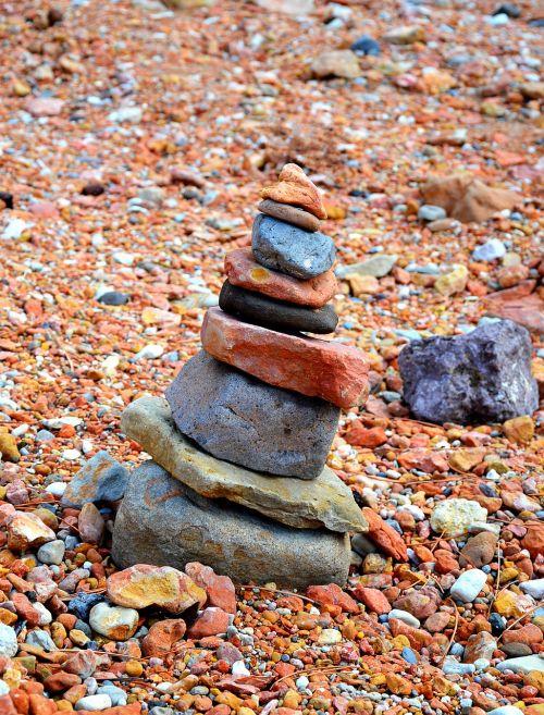 stones reddish nature
