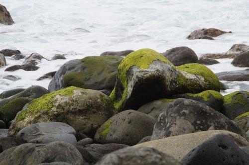 stones bank shore stones