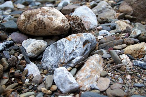 stones pebbles river