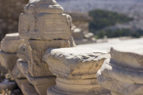stones acropolis columns