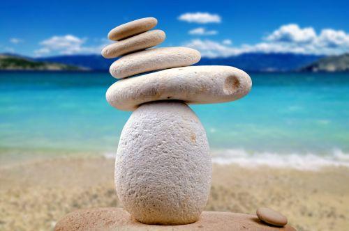 stones zen white