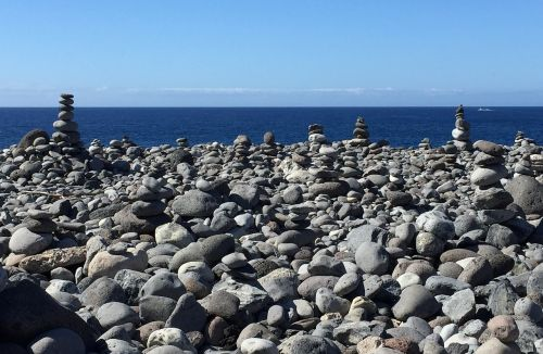 stones beach sea