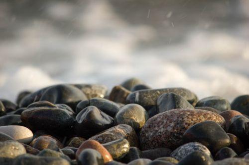 stones sea ocean