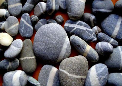 stones white stripes nature
