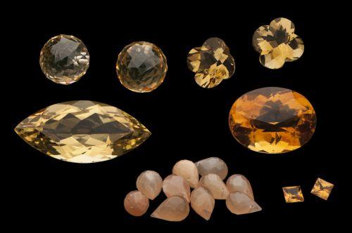 stones orange gems