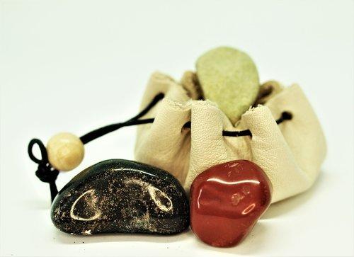 stones  bag  natural healing