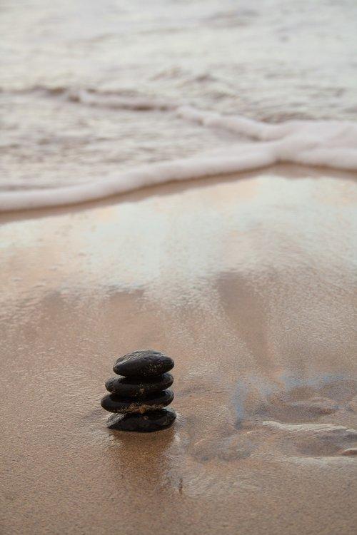 stones  harmony  sea