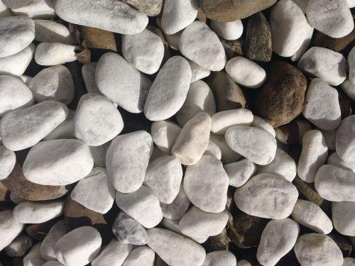 stones white grey