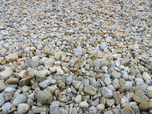stones shingle beach boulders