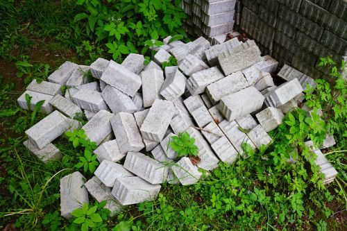 stones paving stones construction material