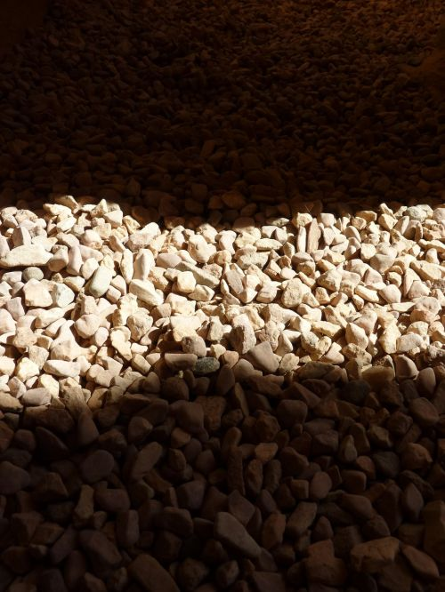 stones light shadow
