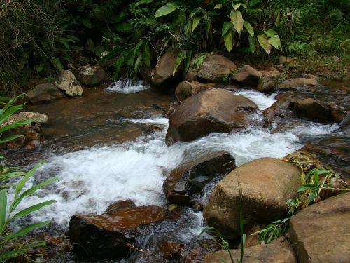 stones cascade water