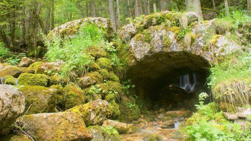 stones ruins foam