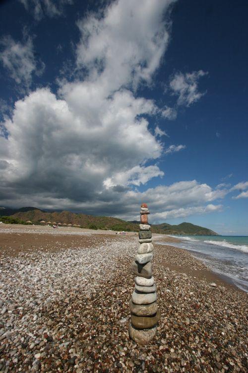 zen stones ocean