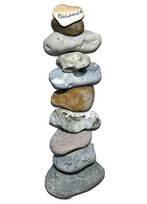 stones tower layered