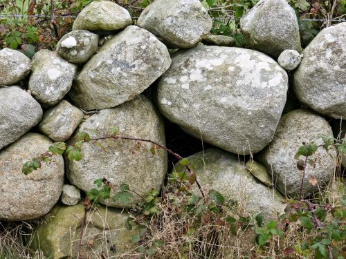 stones wall rock