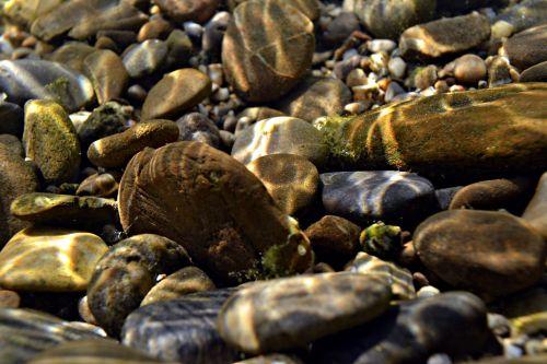 akmenukai, akmenys, akmenys, vanduo, upė, povandeninis, vasara, akmenys po vandeniu