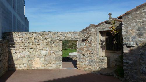 stonework old archway fatima