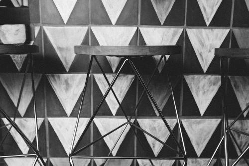 stool chair triangular
