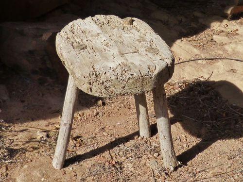 stool wood old