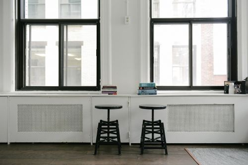 stools books windows