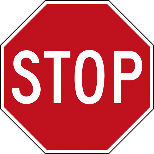 stop road panel