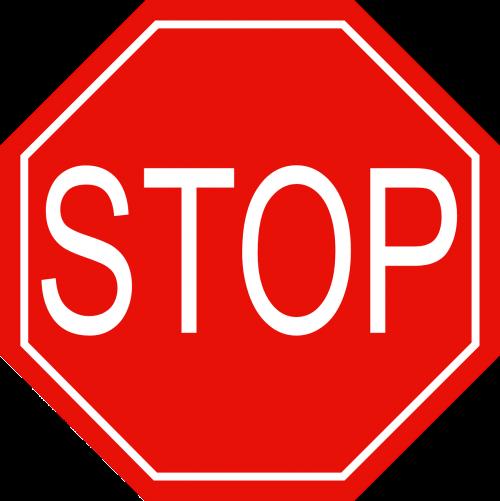 stop red warning