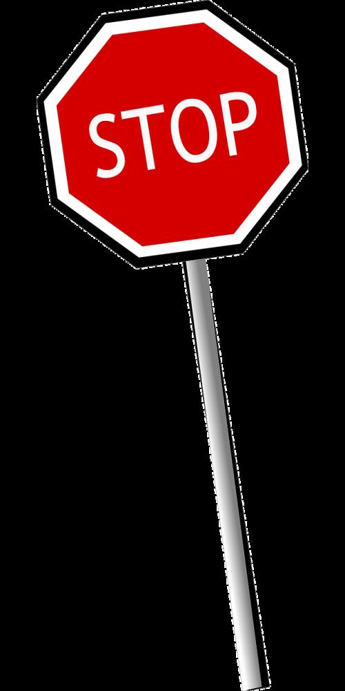stop halt road sign