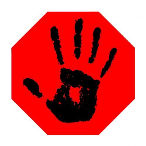 stop hand finger