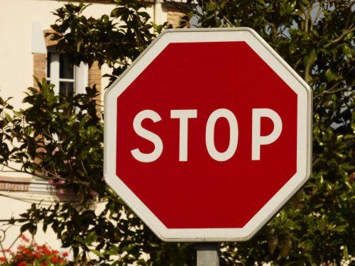 stop panel traffic