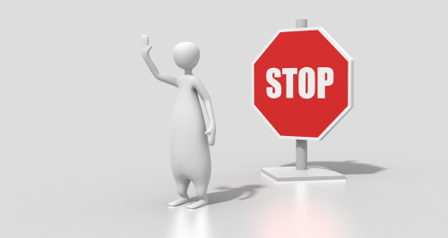 stop sign character