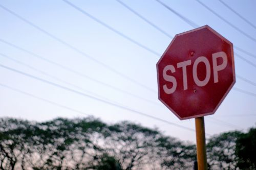 stop sign lines
