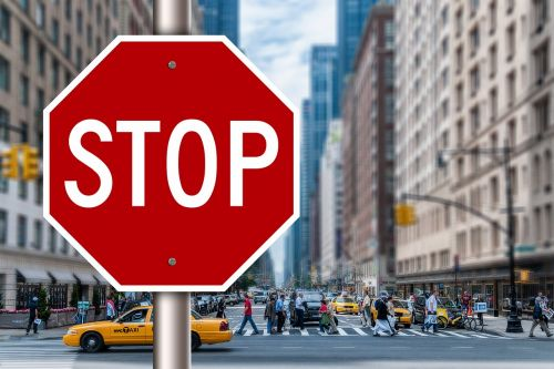 stop containing road sign