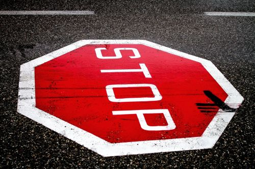 stop road road sign